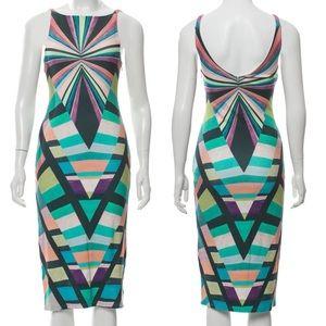 MARA Hoffman Prism Midi Dress Geometric Print